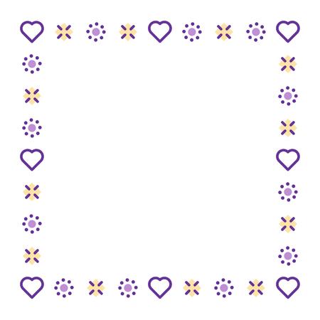 boarder: Love theme decoration