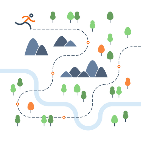 Outdoor running map