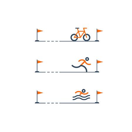 contention: Triathlon distances, sports activities