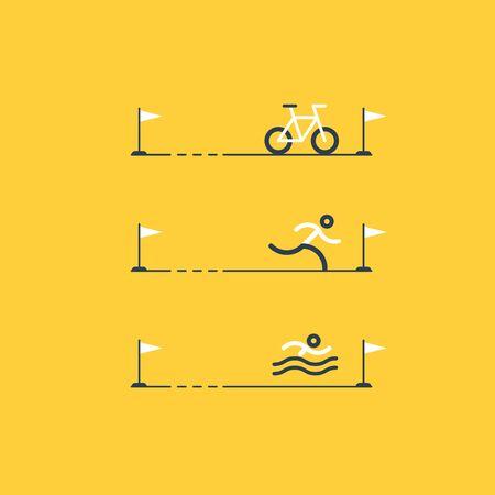 contestant: Triathlon distances, sports activities