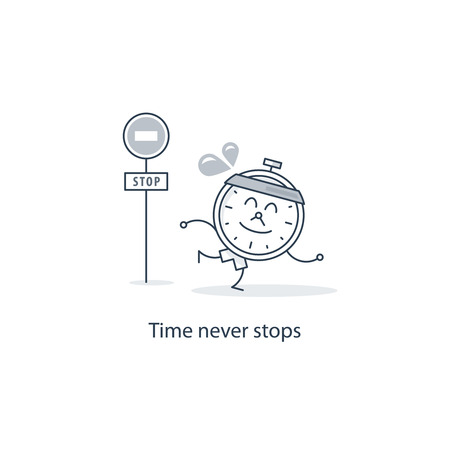 time run away: Time never stops Illustration