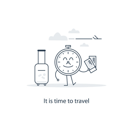 rolling bag: It is time to travel