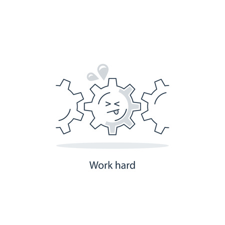 hard: Hard work Illustration