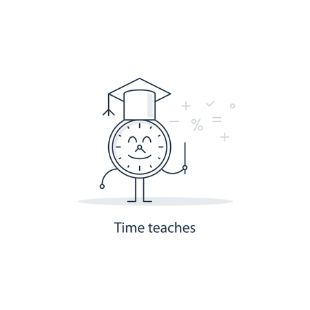 meaningful: Time teaches Illustration