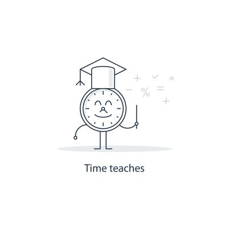 teaches: Time teaches Illustration