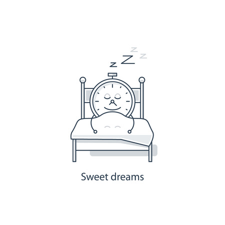 snoring: Sweet dreams Illustration