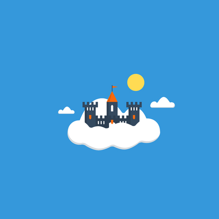 knightly: Cloud castle. Safe data storage concept