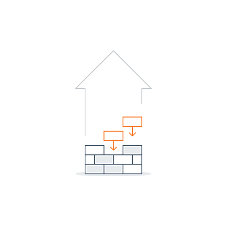 laying: Brick laying, income growth, construction works, linear design