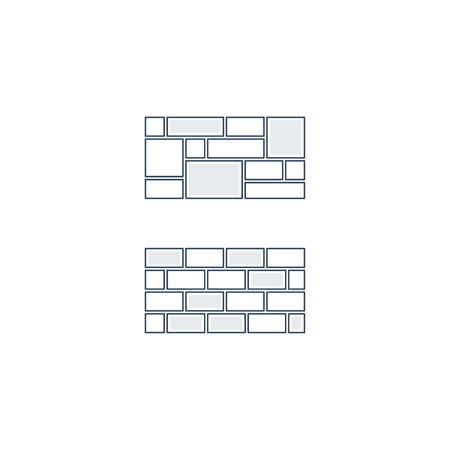 brick work: Brick layer, finishing work, construction, subtle background Illustration