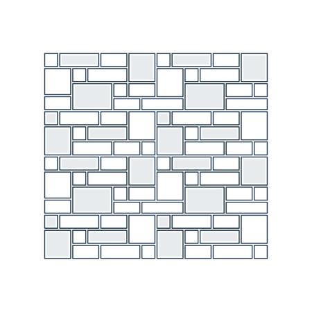 layer: Brick layer, finishing work, construction, subtle background Illustration