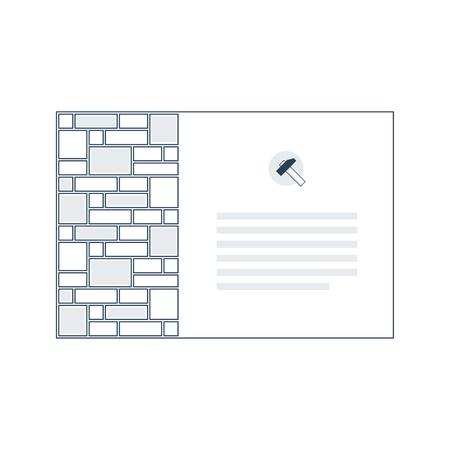 pave: Brick layer, finishing work, construction, subtle background Illustration
