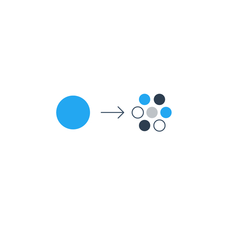 rearrangement: Diversification concept, different parts, components comparison illustration