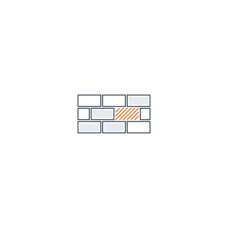 embody: Weak spot in basement or system concept, linear design Illustration
