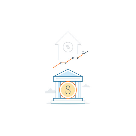 capitalization: Income growth, profit increase, finance portfolio, linear illustration