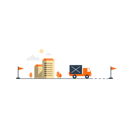rout: Truck transportation, move in house. Intercity delivery. Logistics services