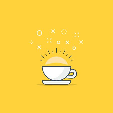 marvelous: Cup of tea or coffee. Tea break. Shiny hot drink