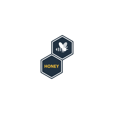 apiculture: Honey bee , apiculture identity, beekeeping company icon, honey production sign, bee symbol. Linear, flat design