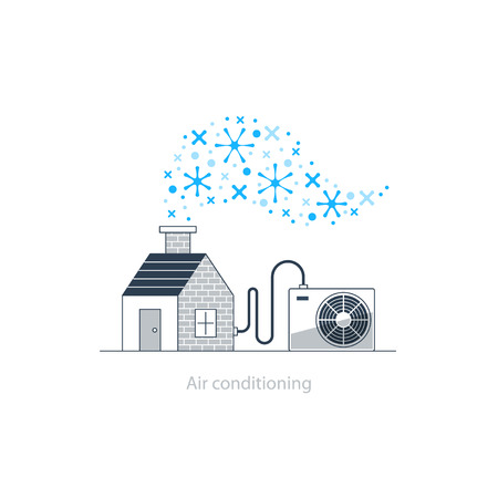 climate: Home air conditioning, climate control concept, house cooling, comfort living