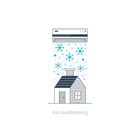 installment: Home air conditioning, climate control concept, house cooling, comfort living