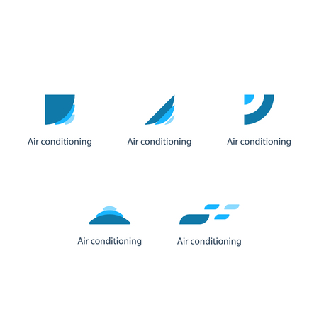 software company: Air conditioning , climate control concept, cooling service. Engineering, software, media, tech company identity