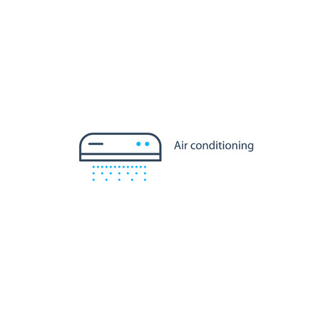 purification: Ductless cooling and heating systems , home air conditioning service icons, climate control concept