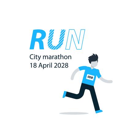 run faster: Running man, finish line, first winner, healthy lifestyle, marathon competition, triathlon contest, sport activity event