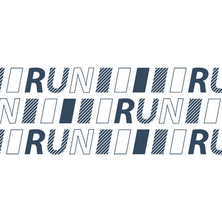 contention: Running event identity, marathon competition background, triathlon contest, sport activities, banner template Illustration