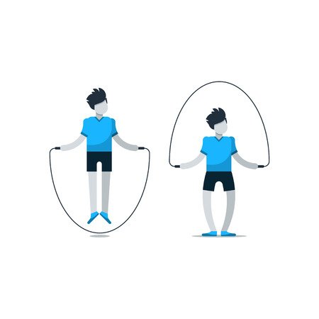 session: Rope jumping daily exercises, fitness time, workout session