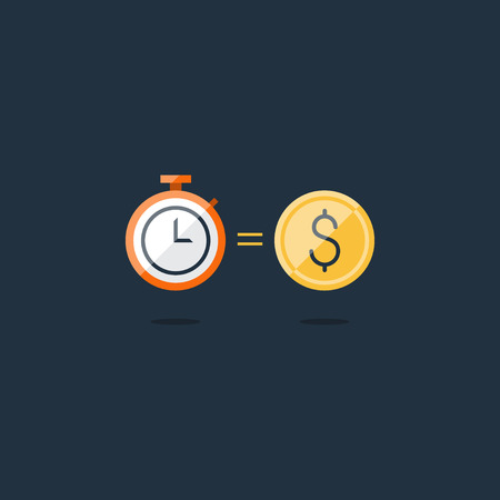 savings account: Time is money concept, savings account, cash bask