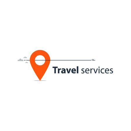 vacation destination: Travel tour company concept, vacation destination illustration