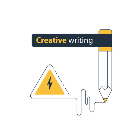 Writing education concept. Flat design vector illustration Illustration