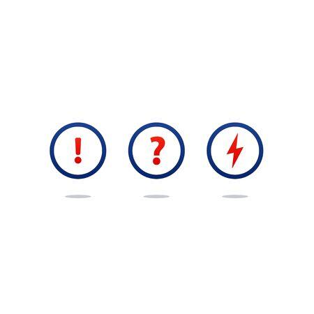 Flat design  illustration. Round icons, poll concept Illustration
