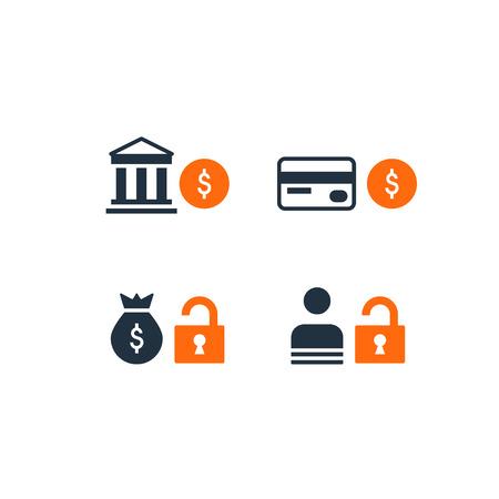 Design plat illustration. technologie de sécurité financière