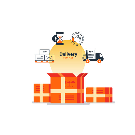 Flat design  illustration. Delivery concept icons