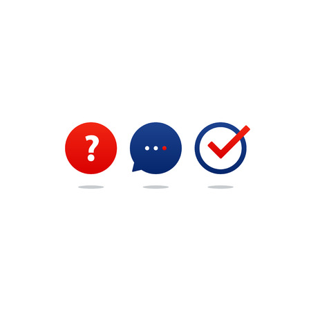 Flat design  illustration. Round icons, poll concept Illustration