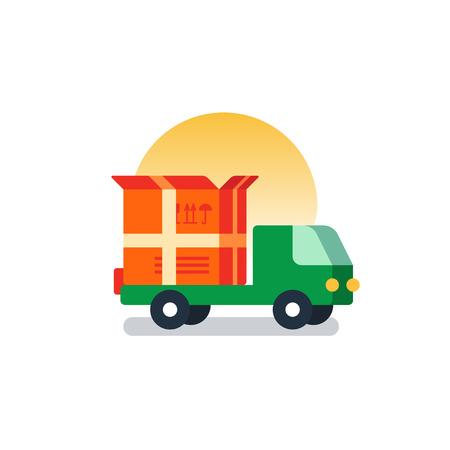 Flat design  illustration. Delivery concept icon