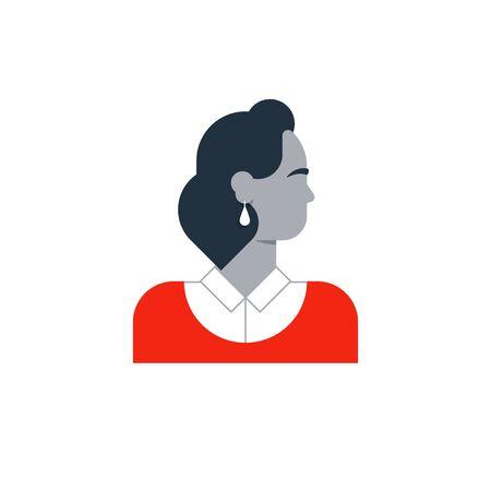 administrador de empresas: ilustración diseño plano. personaje femenino elegante Vectores
