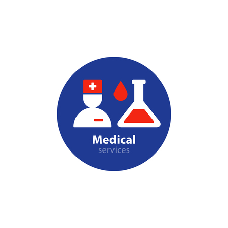 medical laboratory: Health care services. Flat design  illustration
