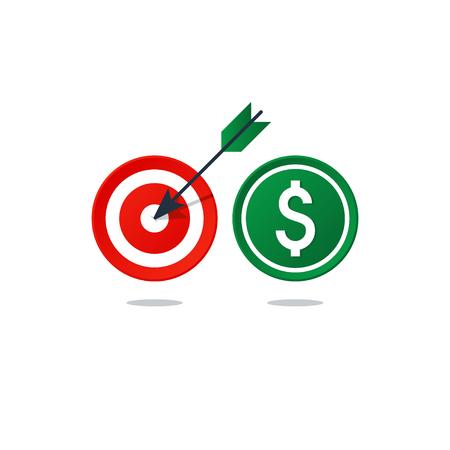 Flat design  illustration. Finance theme concept