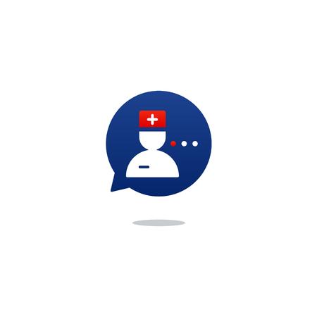Gezondheidszorg. Platte ontwerp illustratie