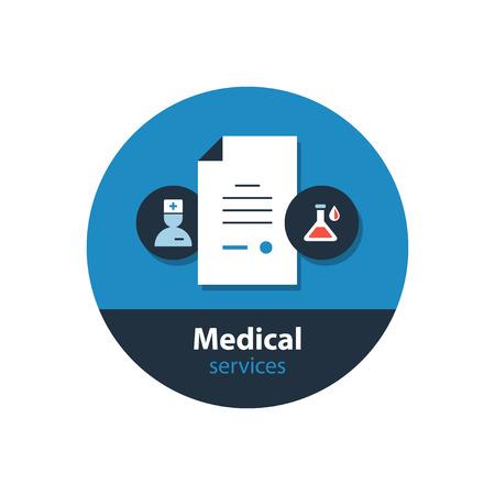 dispensary: Health care services. Flat design  illustration