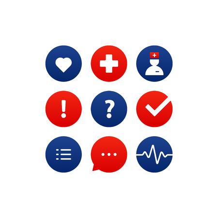 Health care services. Flat design vector illustration