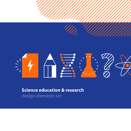 grant: Flat design vector illustration. Scientific study, education concept Illustration