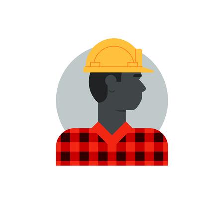 Flat design vector illustration. Male character turned head Illustration