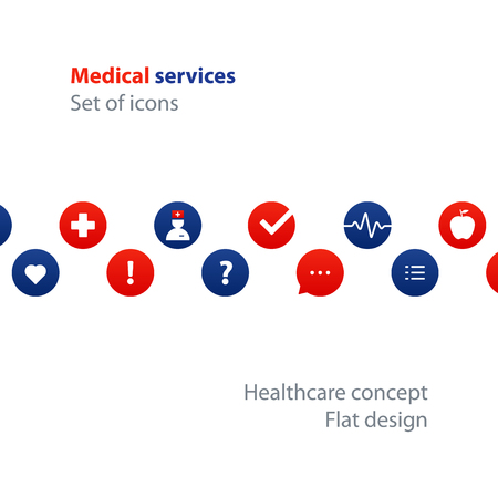Health care services. Flat design vector illustration