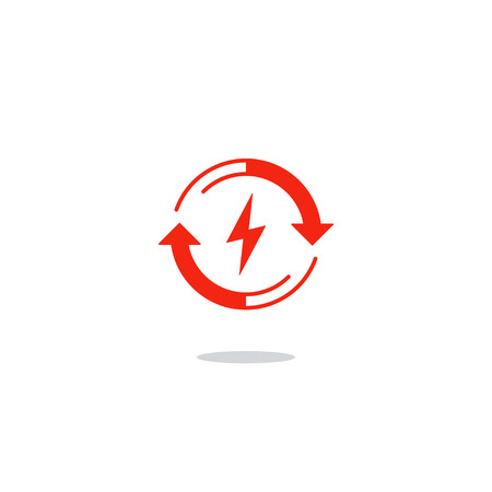 outage: Flat design vector illustration. Electricity graphic elements