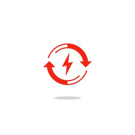 Platte ontwerp vector illustratie. Elektriciteit grafische elementen