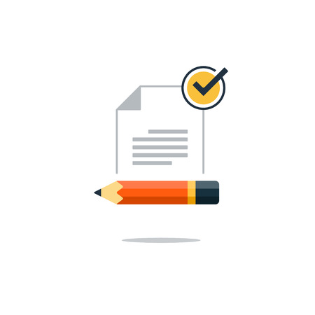 Writing education concept. Flat design vector illustration 矢量图像