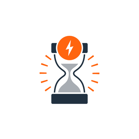 Fast delivery time concept icon. Satisfaction services. Flat design illustration