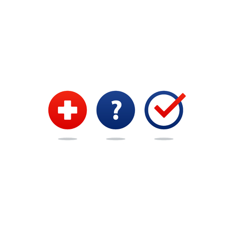 preventive: Health care and medicine services icon and logo, doctor consulting. Flat design vector illustration